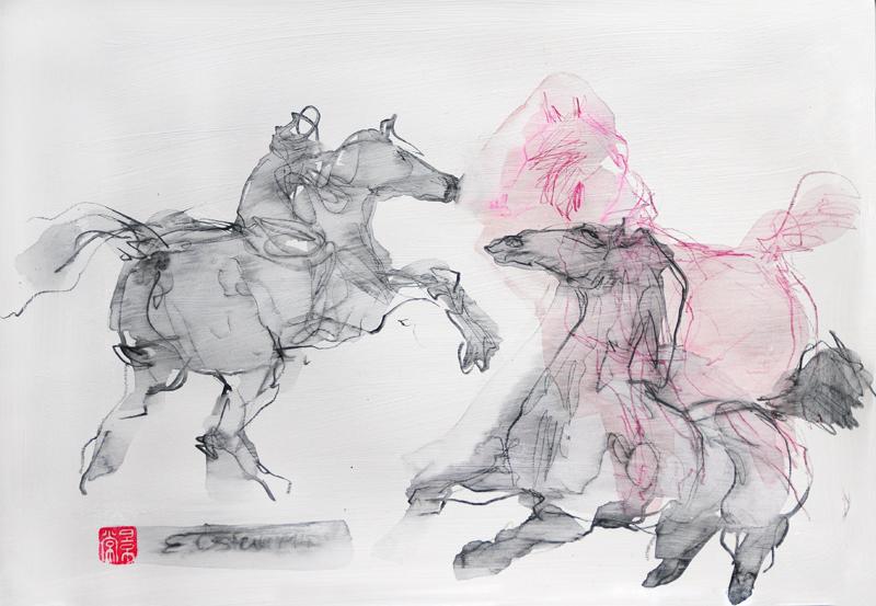 Pferde ziemlich frei
